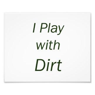 Juego con las letras del verde de la suciedad impresión fotográfica