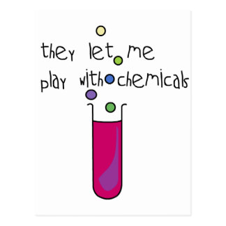 Juego con las sustancias químicas postal