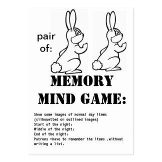 juego-conejos de la mente de la memoria tarjetas de visita grandes