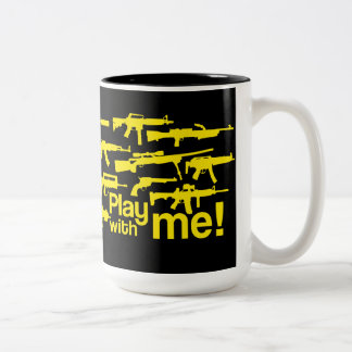 ¡Juego conmigo! taza - negro-amarilla