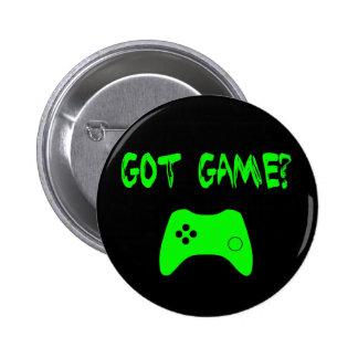 ¿Juego conseguido?  Botón divertido del videojugad Pins