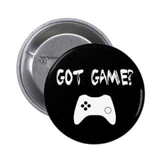 ¿Juego conseguido?  Botón divertido del videojugad Pin
