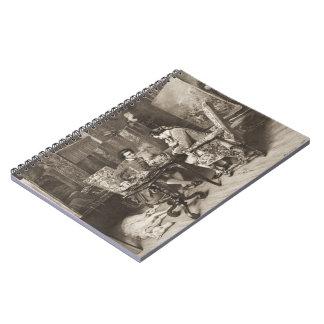 Juego de ajedrez 1898 spiral notebook