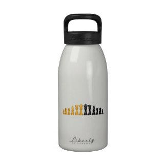 Juego de ajedrez botellas de agua reutilizables