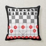 Juego de ajedrez almohadas
