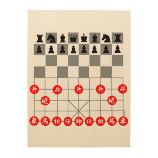 Juego de ajedrez cuadro de madera