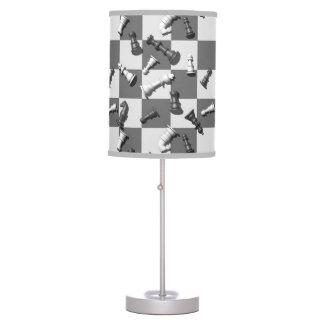 Juego de ajedrez lámpara de mesilla de noche