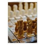 Juego de ajedrez para la venta, bazar del EL Khali Tarjetas