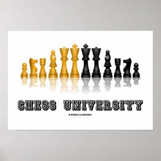Juego de ajedrez reflexivo de la universidad del póster