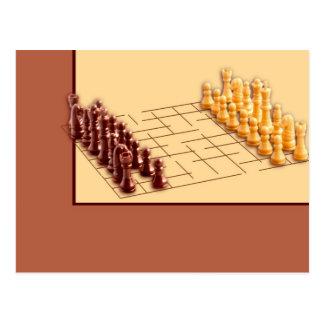 Juego de ajedrez tarjeta postal