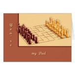 Juego de ajedrez tarjetas