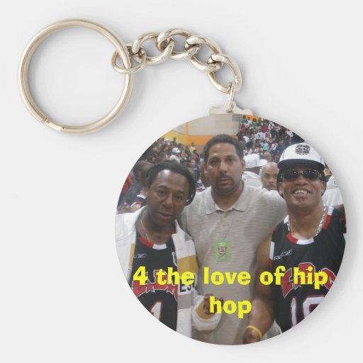 juego de b, 4 el amor del hip-hop llavero redondo tipo pin