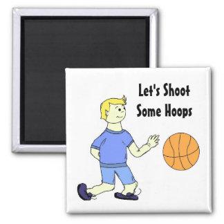 Juego de baloncesto imán cuadrado