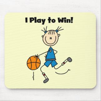 Juego de baloncesto para ganar las camisetas y los alfombrillas de raton