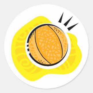 Juego de baloncesto pegatina redonda