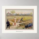 Juego de béisbol 1887 poster