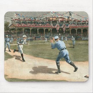 Juego de béisbol de la liga nacional 1886 alfombrilla de raton