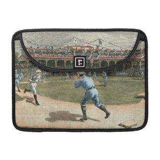 Juego de béisbol de la liga nacional 1886 funda macbook pro
