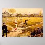 Juego de béisbol del vintage poster