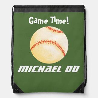 Juego de béisbol personalizado mochilas