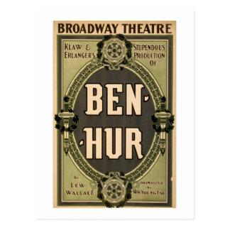Juego de Ben Hur del teatro de Broadway del Postales