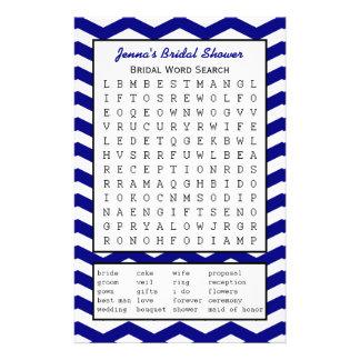 Juego de búsqueda nupcial de la palabra de la duch flyer personalizado