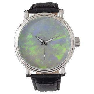 Juego-de-Color del ópalo blanco Relojes De Pulsera