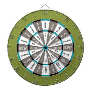 Juego de consumición en azul del verde, del gris y tabla dardos