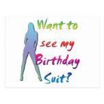 Juego de cumpleaños postales
