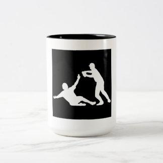 Juego de dobles del béisbol taza