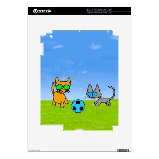 Juego de dos gatos afuera iPad 2 skins