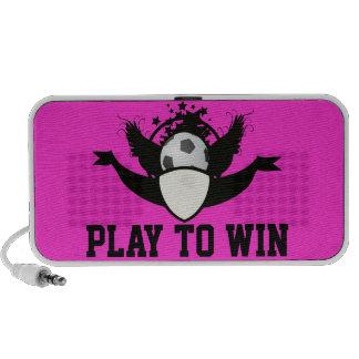 Juego de encargo para ganar el balón de fútbol de  iPod altavoces
