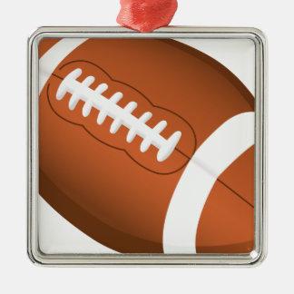 Juego de equipo de la bola de los deportes del adorno navideño cuadrado de metal