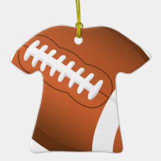 Juego de equipo de la bola de los deportes del adorno de cerámica en forma de camiseta