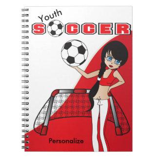 Juego de fútbol del chica - rojo notebook