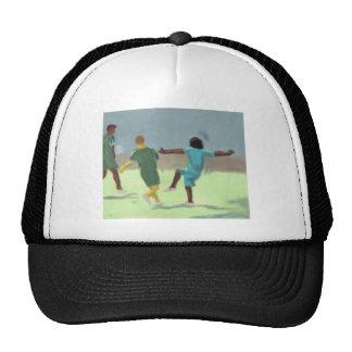 Juego de fútbol, gorra