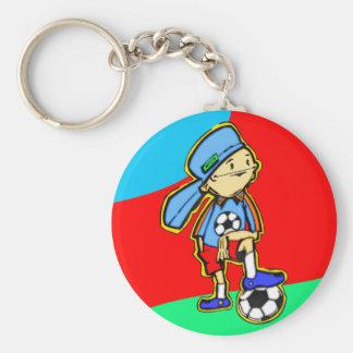 Juego de fútbol llavero redondo tipo pin