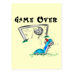Juego de fútbol sobre las camisetas y los regalos tarjetas postales