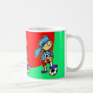 Juego de fútbol taza