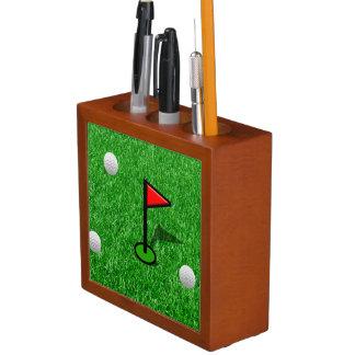 Juego de golf - vea ambos lados portalápices