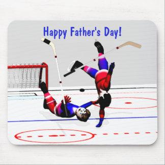 Juego de hockey del día de padre tapete de ratón