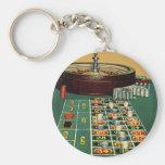 Juego de juego de los microprocesadores del casino llavero redondo tipo pin