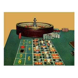 Juego de juego de los microprocesadores del casino postales