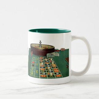 Juego de juego de los microprocesadores del casino taza de dos tonos