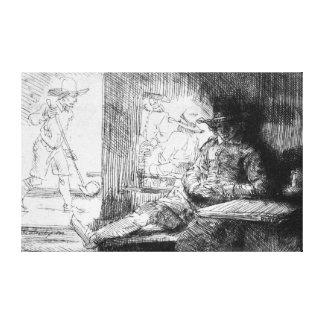 Juego de Kolf, 1654 Impresión En Lienzo Estirada