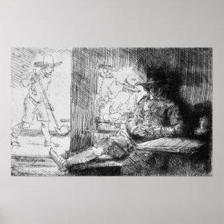 Juego de Kolf, 1654 Póster