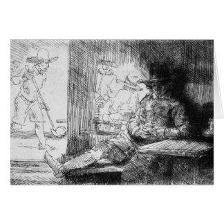 Juego de Kolf, 1654 Tarjeta De Felicitación