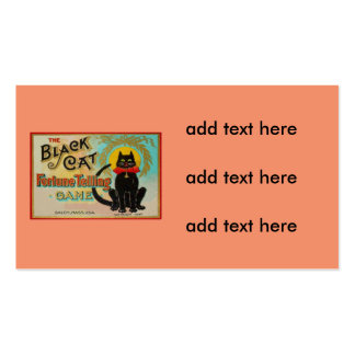 Juego de la adivinación del gato negro tarjetas de visita