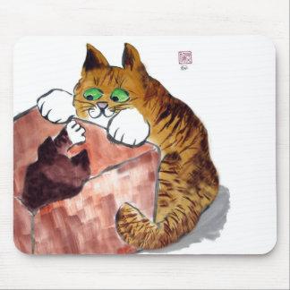 Juego de la caja por un gatito y un gato de Momma Tapetes De Ratones