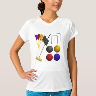 Juego de la camiseta activa para mujer del croquet